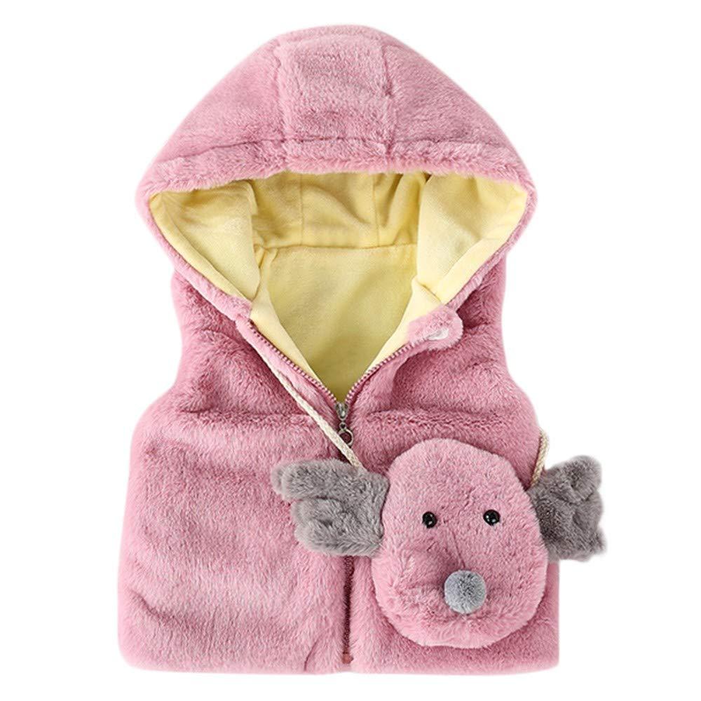 80ac549e1 A-Artist Baby Girls Waistcoat Winter Warm Clothes+Cartoon Bag Plus ...