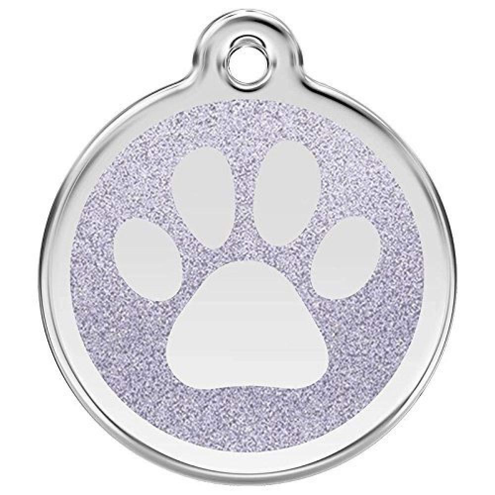 Red Dingo Medaglietta tonda con impronta e fondo glitter per cani
