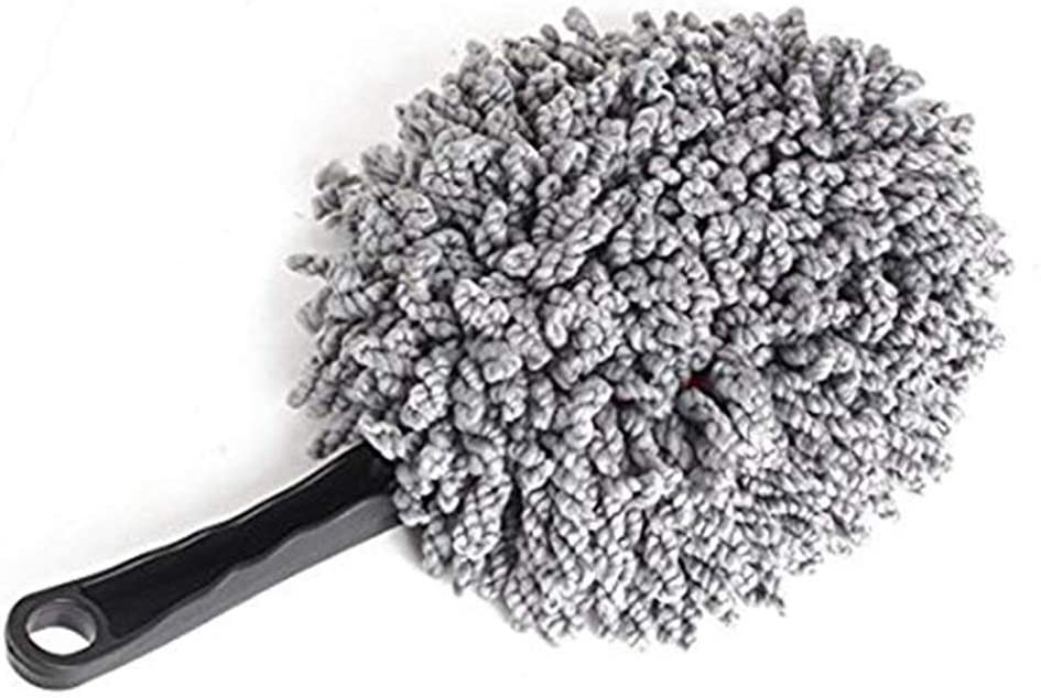 Multi-Functional Microfiber Duster Brush for Car Home Computer Cleaning Lightweight Washable Dusting Brush 1PCS -Grey