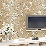 Bazaar 10M Concave-convex Wallpapers 3D Embossed Textured Non-woven Flocking Wall Paper Rolls