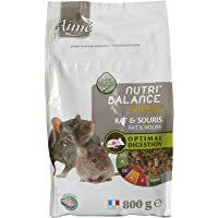 Aime Aliment Complet Rat et Souris, NUTRI'BALANCE Expert, Repas Premium varié vitamines et Digestion optimale, 800G