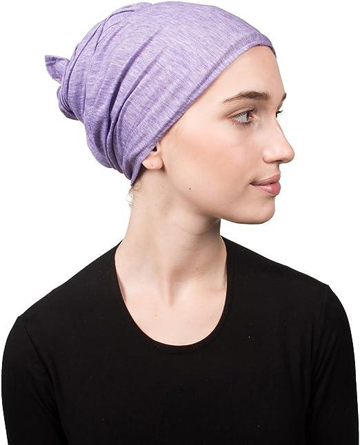 Pink Cotton Headscarf Womens Chemo Ultra Soft Oblong Tichel Head Scarf