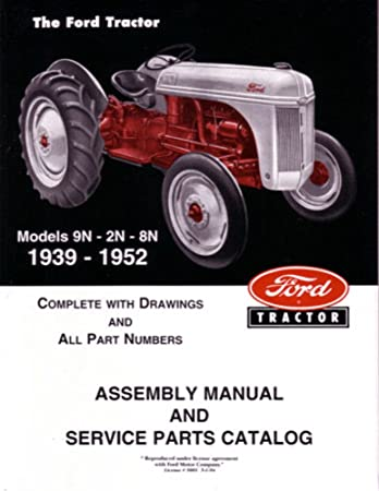 amazon com: bishko automotive literature 1939 1950 1951 1952 ford tractor  9n 2n 8n parts numbers book manual factory: automotive