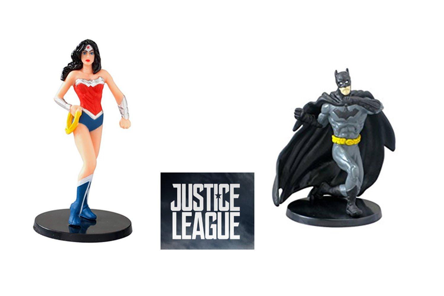 Justice League 2017 Wonder Woman and Batman PVC Figurines 2.75 DC Comics
