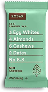 product image for RXBAR Real Food Protein Bar, Mint Chocolate, Gluten Free, 1.83oz Bars, 24 Count