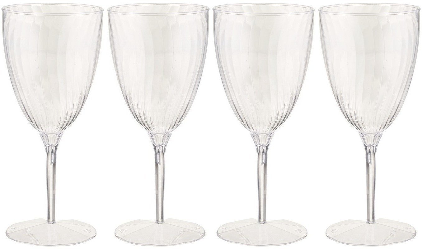 Lillian Tablesettings Premium Wine Glasses, Disposable Plastic Cups, 1 Piece, Value Pack-96 Count Champagne, 8 Oz. by Lillian Hard