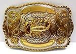 Big Belt Buckle Classic Western Cowboy Style Scorpion Gold Rodeo