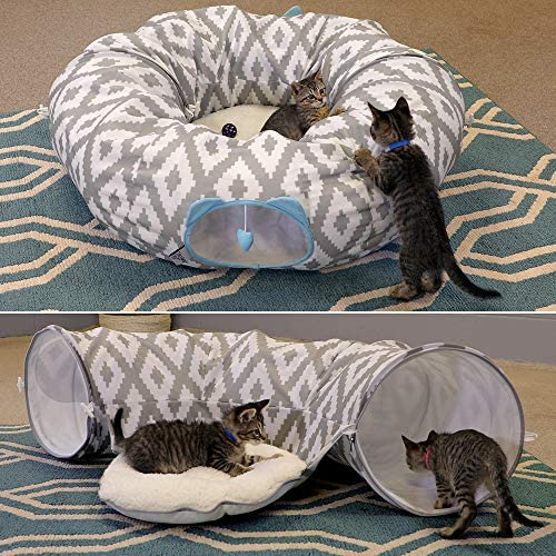 Kitty City Large Cat Tunnel Bed, Cat Bed, Pop Up Bed, Cat Toys, Christmas Tree 4
