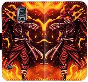 Fairy Tail E4Q5K Funda Samsung Galaxy Note Funda de cuero caso de la célula 4 funda caja de la carpeta del tirón hem8X1 teléfono de la manera personalizada