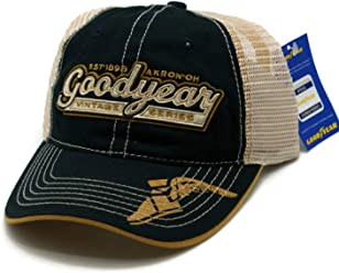 d5d5c7e69521b HAT - Goodyear Mess Embroidered Vented Trucker Style Ball Cap