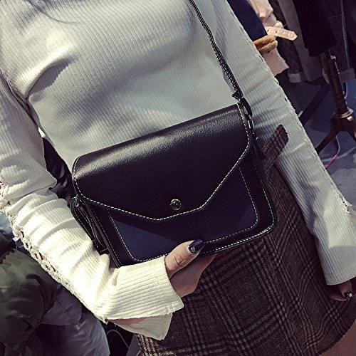 de YIUXB Hombro color azul golpeó green bolsos diagonal coreana de bandolera bolso bolso moda pequeño diagonal cuadrado señoras Rwt1qwWrn