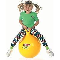 AZOD Bouncer Hopper with Air Pump Jump N Bounce Retro Ball Handle (65 cm, Multicolour)