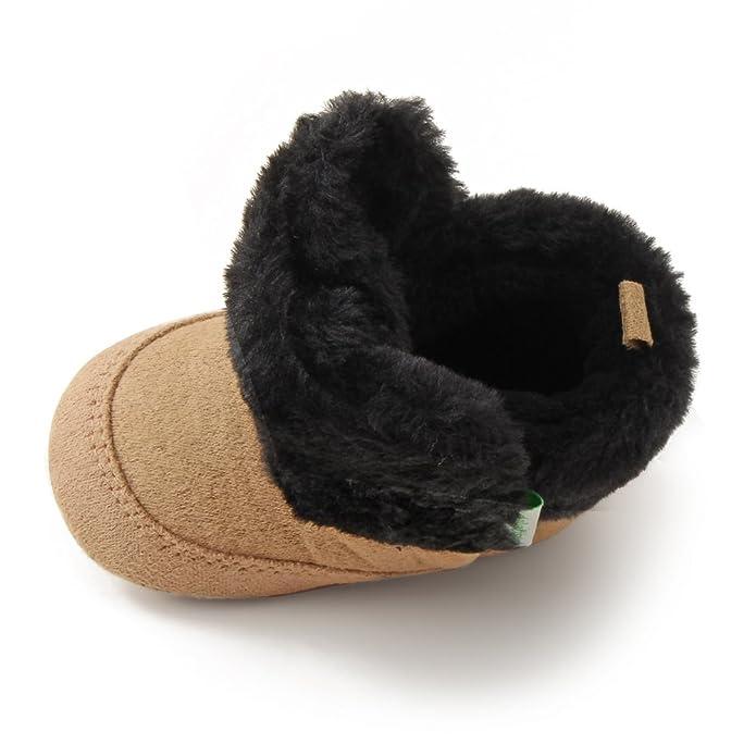 Amazon.com: Delebao - Botas de nieve para bebé, suela suave ...