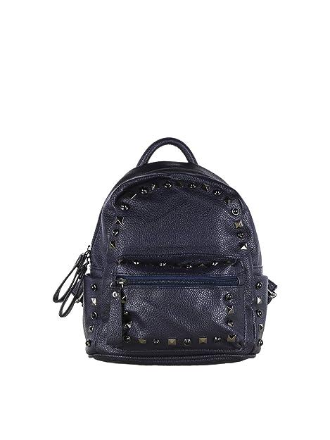 ca6f62e1f1 SOLADA Zainetto con borchie donna blu Ecopelle: Amazon.it: Scarpe e borse