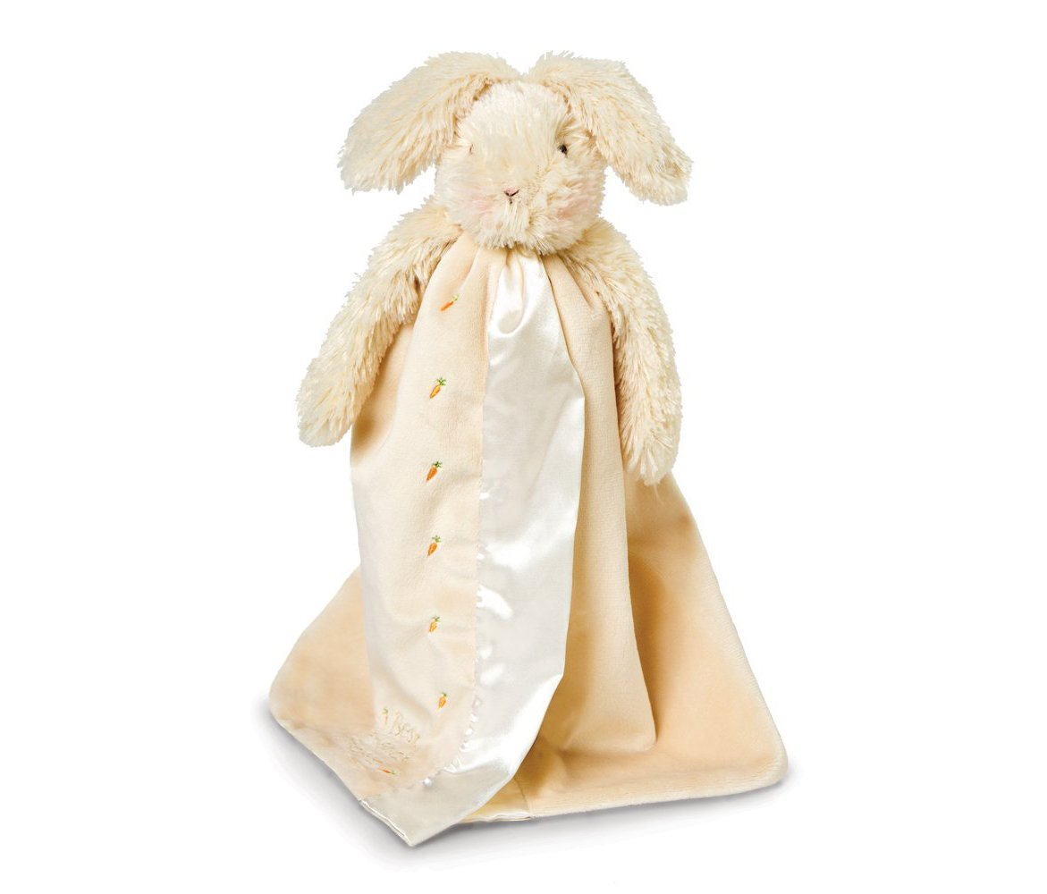 Mozlly Multipack - Bunnies by the Bay Rutabaga Bunny Buddy Blanket - Silky Satin Edge - Cuddly Fur - Stuffed Animal - 16 inches - Toddlers Super Soft Plush (Pack of 6) - Item #S184002_X6