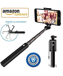 Ebux™ Compact Wired Extendable Pocket Size Selfie Stick with AUX Wire Compatible for All iPhone/Samsung/Oppo/Vivo/Xiaomi Redmi & All Smartphones