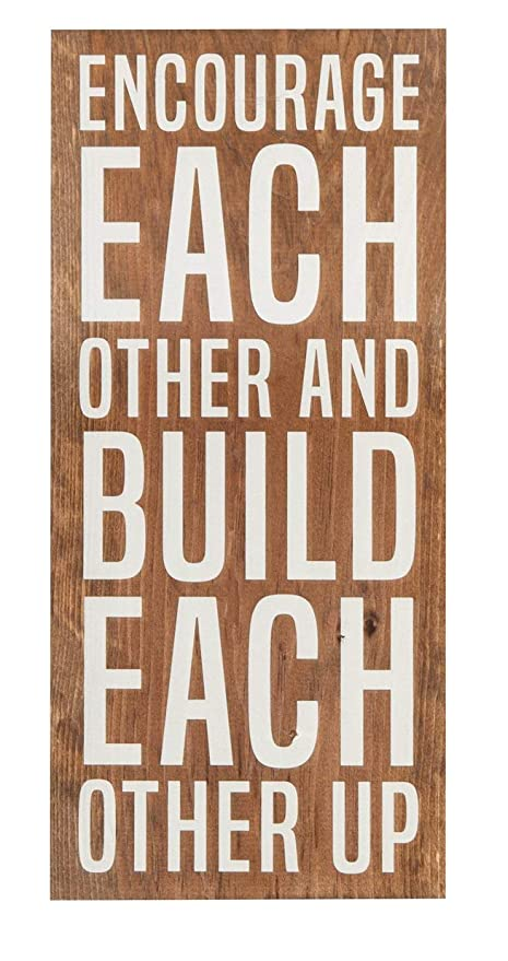 Amazoncom Encourage Build Each Other Up Natural Handmade Wood