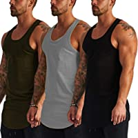 COOFANDY Men's 3 Pack Gym Tank Top Workout Muscle Sleeveless Shirts Bodybuilding Fitness T Shirts