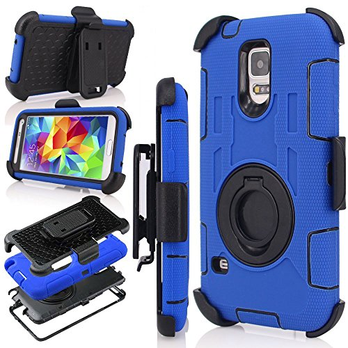 J.west S5 Case, Galaxy S5 Holster case, Hybrid Dual