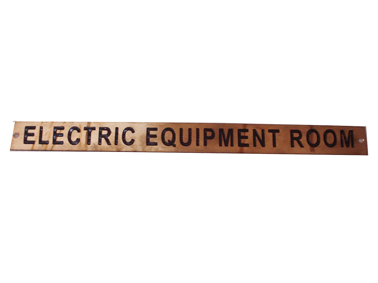 Boat//Nautical Electric Equipment Room 179 12 x 1 Inches Marine Brass Door Sign