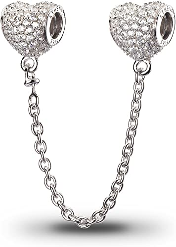 925 Sterling Silver pave family tree dangle Charm European style
