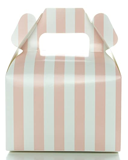 Baby Shower Candy Boxes, Light Pink Striped (12 Pack)   Wedding Supply Favor