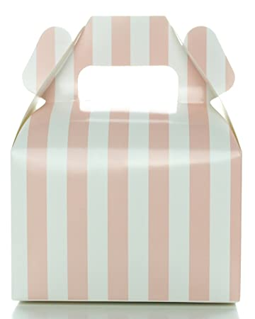 Amazon baby shower candy boxes light pink striped 12 pack baby shower candy boxes light pink striped 12 pack wedding supply favor junglespirit Image collections