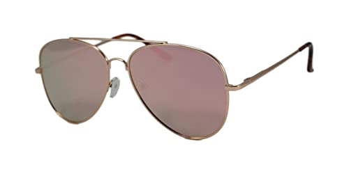 87af87b336 So In Luxe Aviator Retro Fashion Glasses Mirrored Lens Oversized (Large