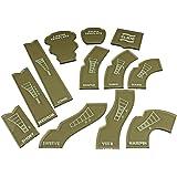 LITKO Gaslands Template Set, Translucent Bronze (12)