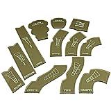 LITKO Gaslands Template Set, Translucent Bronze