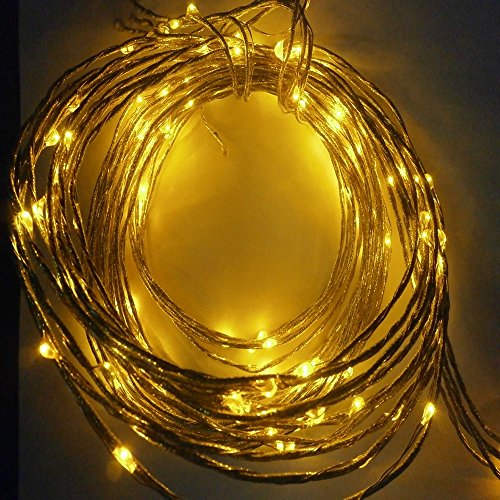 Generic 12v Original 32.8ft 10m 100 Leds Ip65 Waterproof Starry String Light Cooper Wire LED Flexible Light for Holiday High Quality Yellow