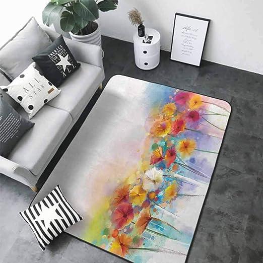 Amazon Com Outdoor Floor Mats Watercolor Flower Home Decor