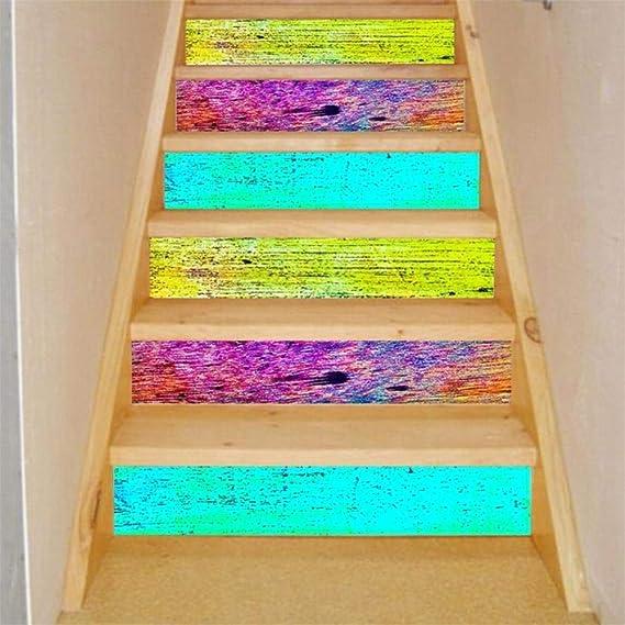 Li KererPersonality Escalera Decoración Escalera Subida Pegatina de Piso DIY Escaleras de Pared Adorno Puede Quitar Las Pegatinas de Pared Calcomanía de habitación JY-048, B: Amazon.es: Hogar