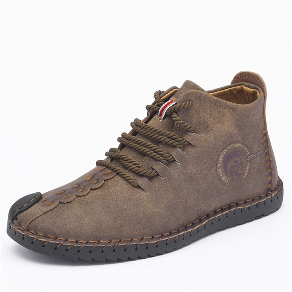 Another Summer Men's Fashion Casual Leather Work Shoes Chukka Boots