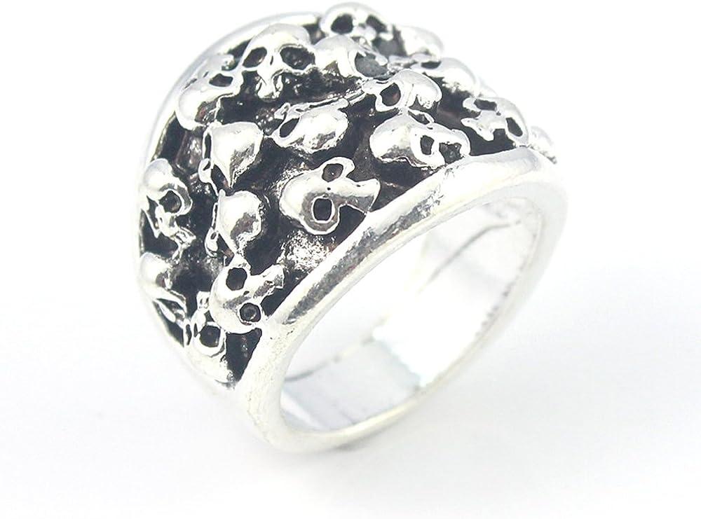 silverjewelgems Skull Plain Fashion Jewelry .925 Silver Plated Ring 9 S23549