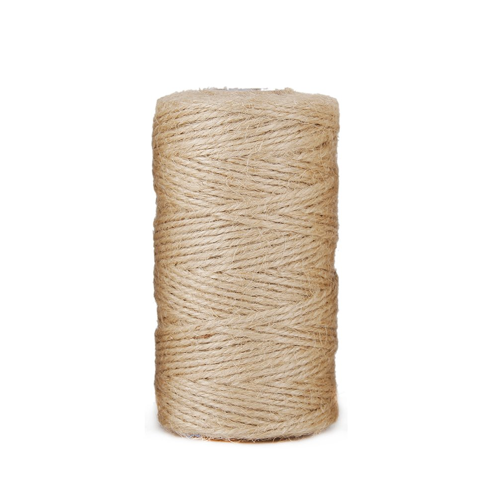 Advantez Natural Jute Burlap Twine String Hessian Rope Cord Craft (2MM)