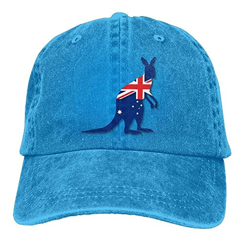 MAON Flag of Australia with Kangaroo Denim Hat