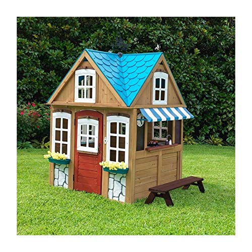 KidKraft Backyard Wooden Seaside Cottage Outdoor Children, used for sale  Delivered anywhere in USA