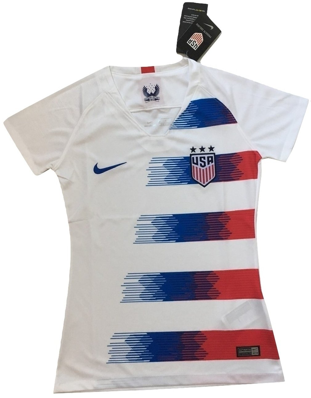 Mallnkakova Women's USA National Team 2018-2019 Home Soccer Jersey White (Women's Medium)