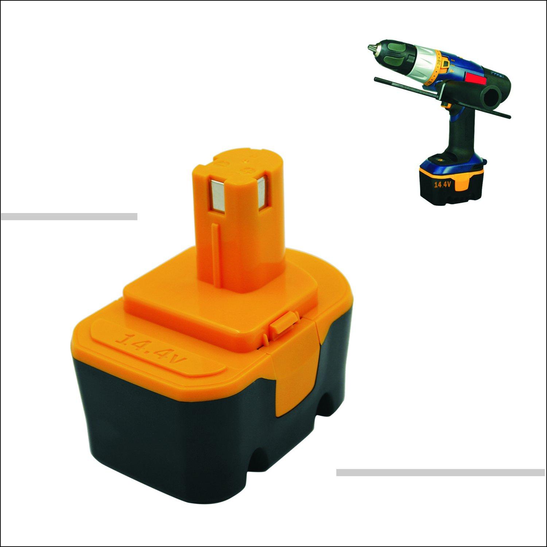 Kinon Reemplazo Herramienta Eléctrica Batería 14.4V 2.0Ah para Ryobi Taladro inalámbrico Destornillador 130224010 130281002 1314702 1400144 1400655 ...