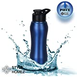 Style Homez Stainless Steel Water Bottle 750 ml Gym Sipper Blue Color - BPA Free, Food Grade Quality