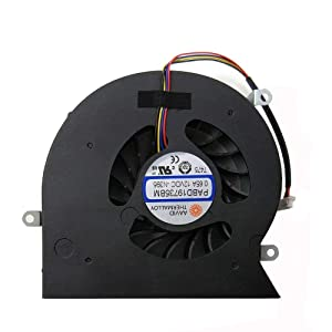 Tested Replacement CPU Cooling Fan for MSI MS-16L1 MS-16L2 MS-16L3 GT62 GT62VR 6RE GT62VR 7RE Terrans Force S5 S6 S5-A1 Series, Compatible Part Number PABD19735BM-N322 N395 12V 0.65A 4Pin
