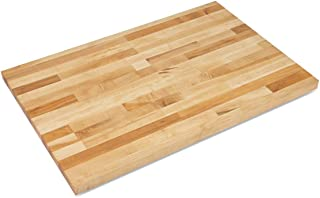 "product image for John Boos Blended Maple Butcher Block Countertop - 1-1/2 Thick, 60"" L x 30"" W, Varnique Finish"