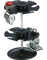 Wedo 0641201 - Soporte para 12 sellos, redondo en 2 niveles, negro