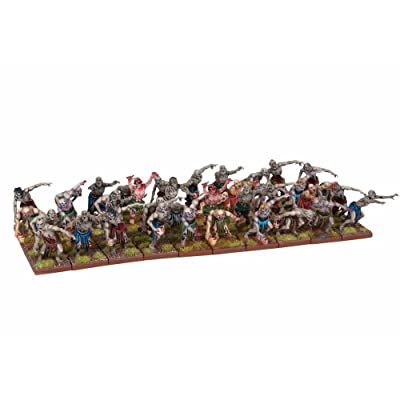 Mantic Games MGKWU33-1 Zombie Horde Miniature Model, Multicolour: Toys & Games