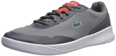 f653301de81b98 Lacoste Men s LT Spirit 417 1 Sneaker Dark Grey Red 8 ...
