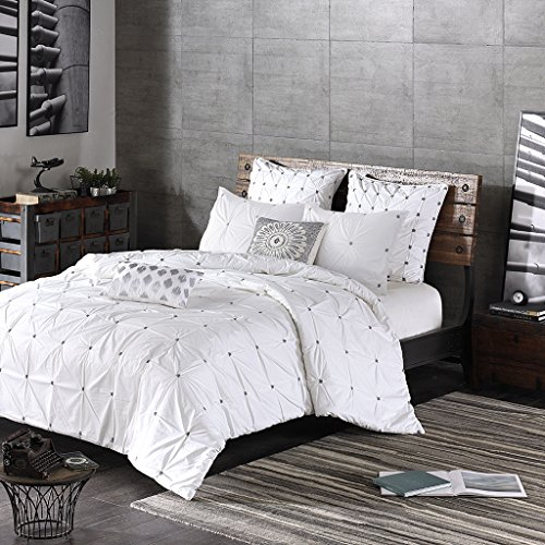 Ink+Ivy Embroidered Euro Sham Euro Sham/White