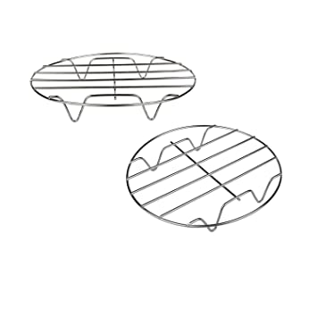 amazon t b 2pcs 7 inch air fryer rack cooking steaming cooling Clip Art English Muffin t b 2pcs 7 inch air fryer rack cooking steaming cooling multi purpose 304 stainless steel