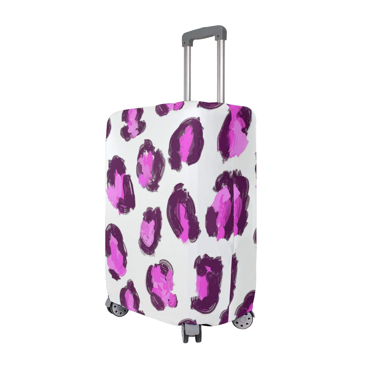 Baby Girl Leopard Print Pink Traveler Lightweight Rotating Luggage Protector Case Can Carry With You Can Expand Travel Bag Trolley Rolling Luggage Protector Case