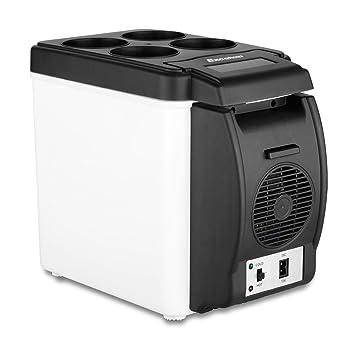 Excelvan BT16 - 6L Nevera Portatil Mini Refrigerador del Coche, Calentador para coche, 12V